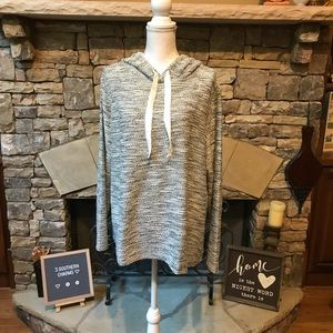 NWT LOFT Shimmer Boucle Hoodie Sweater XXL